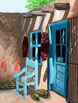 Santa Fe Courtyard by Karyn Robinson