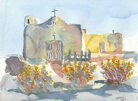 Santa Fe Mission by Michael  Accorsi