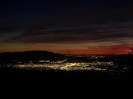 Santa Fe Night View From Santa Fe Basin by Daria Yesieva-Kartsinski