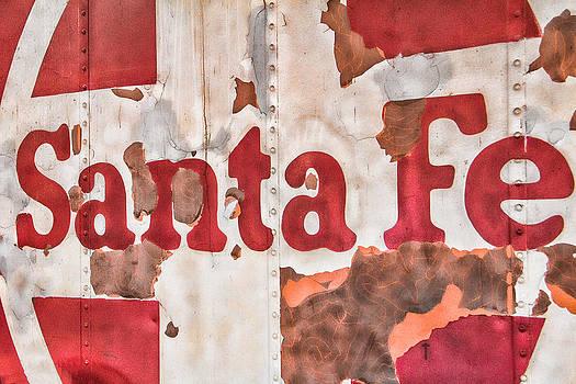 Santa Fe Vintage Railroad Sign by Steven Bateson
