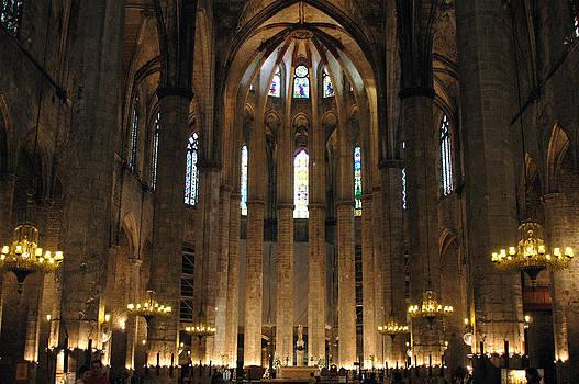 Santa Maria del Mar Basilica II by Kathy Schumann
