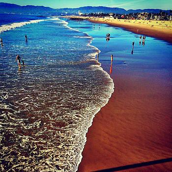 Santa Monica Beach by Barry Shereshevsky