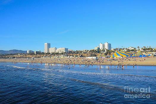 Santa Monica California Coast Line by Timothy OLeary