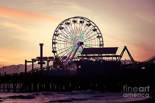 Paul Velgos - Santa Monica Pier Ferris Wheel Retro Photo