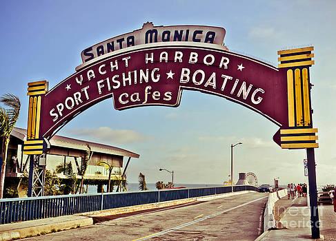 Santa Monica Pier Sign by Stacey Granger