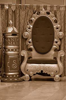 Santa's Chair - sepia by Carol Vanselow