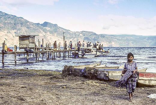 Santiago Atitlan Dock by Tina Manley