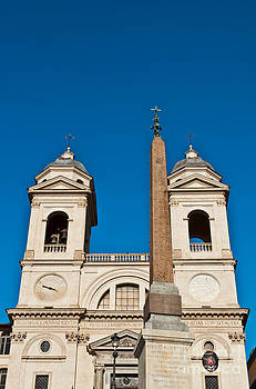 Santissima Trinita dei Monti Church and Obelisk by Luis Alvarenga