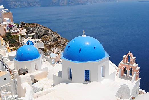 Santorini Domes by Andy Rebennack