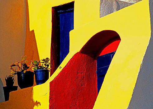 Dennis Cox WorldViews - Santorini doorways