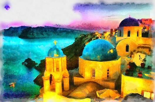 Santorini Sunset by Patrick OHare