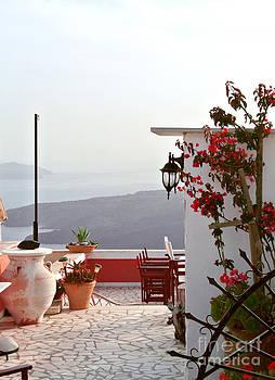 Santorini Terrace by Sarah Christian