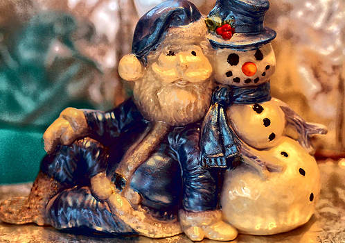 Sapphire Santa and Mr. Snowman by William Rockwell