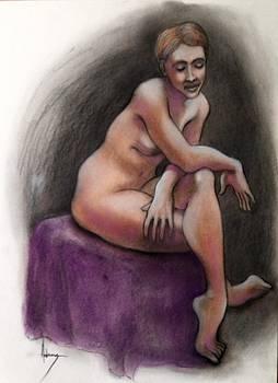 Sara bemused by Jack Edson Adams