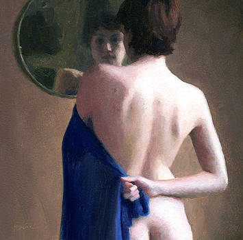 Sara in a Round Mirror by Charles Pompilius