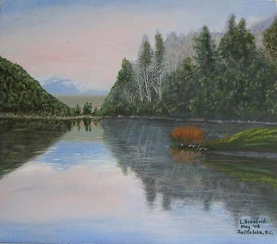 Sarita lake on Vancouver Island by Lorraine Bradford