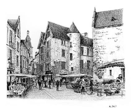 Sarlat - Black ink by Nicolas Jolly