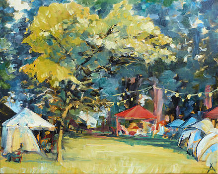 Saturday Afternoon at the Indiana Fiddler's Gathering by Azhir Fine Art