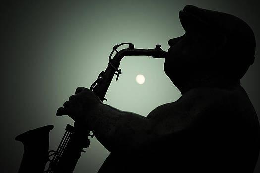 Sax player by Ahmed Shanab