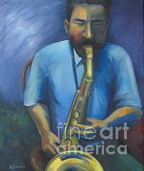 Sax Player by Noel Sandino