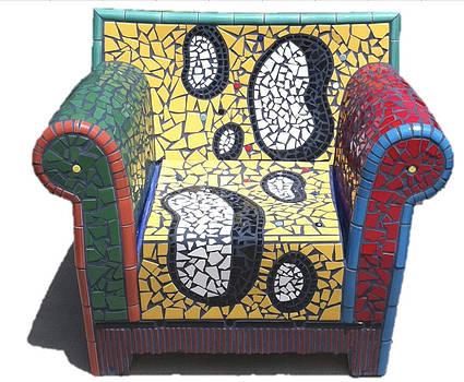 Say Cheese Mosaic Tile Chair by Darlene Graeser