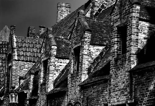 Amsterdam Rooftops in Black and White by Barbara D Richards