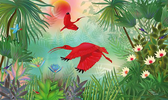 Scarlet Corocoro - Limited edition 1 of 20 by Gabriela Delgado