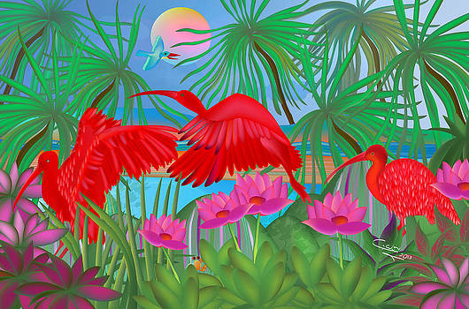 Scarlet Summer Dance - Limited Edition 1 Of 20 by Gabriela Delgado