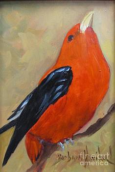 Scarlet Tanager Bird by Barbara Haviland