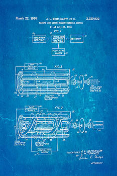 Ian Monk - Schawlow Laser Patent Art 1960 Blueprint