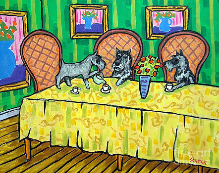 Schnauzers Tea Party by Jay  Schmetz