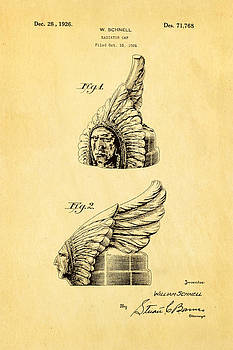 Ian Monk - Schnell Pontiac Chief Hood Ornament Patent Art 1926