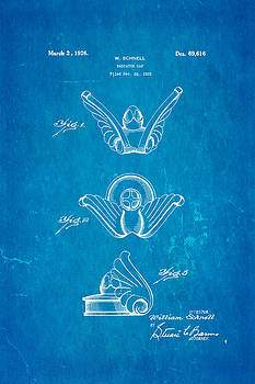 Ian Monk - Schnell Radiator Cap Patent Art 1926 Blueprint