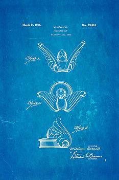 Schnell Radiator Cap Patent Art 1926 Blueprint by Ian Monk