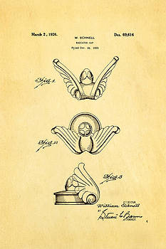 Schnell Radiator Cap Patent Art 1926 by Ian Monk