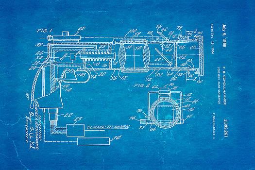 Schollhammer Electron Beam Gun Patent Art 1968 Blueprint by Ian Monk