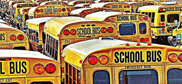 School Bus Lot by David Sanchez