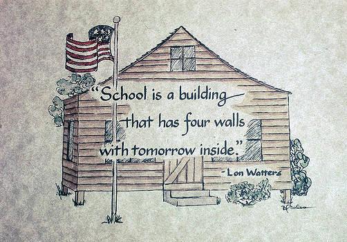 School is a building by Barbara  Rhodes