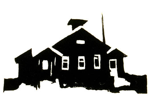 Schoolhouse silhouette by Chris DeVries
