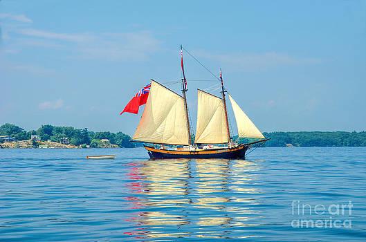 Linda Rae Cuthbertson - Schooner Clipper Ship with British Flag