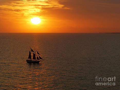 Christine Stack - Schooner Jolly Rover Sailing at Sunset in Key West Florida