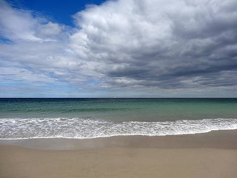 Schooner Sea Scape by Malcolm Lorente
