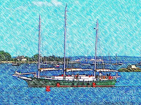 Schooner - Soundwaters by Judy Palkimas