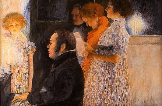 Schubert at the Piano  - after Klimt by Don Perino