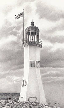 Scituate Light by Donna Basile