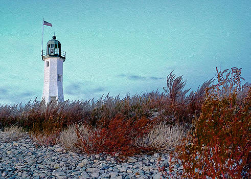 Scituate Lightfall by Carol Sutherland