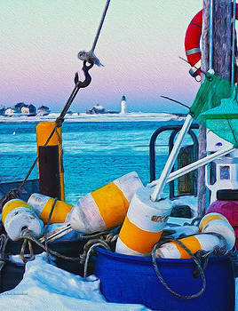 Scituate Winter Color by Carol Sutherland