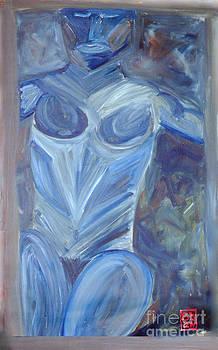 Scott Shaw Blue Body Nude by Scott Shaw