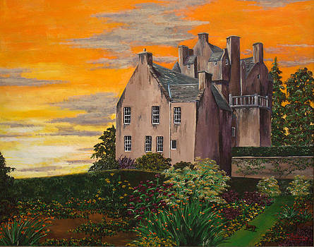 Scottish Gardens at Sunset by Julia Robinson