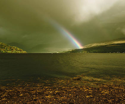 Jane McIlroy - Scottish Rainbow on Loch Fyne